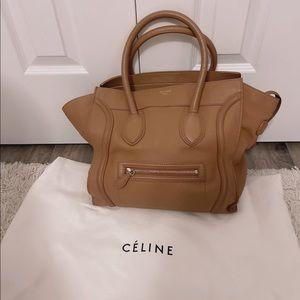 Celine Nano Luggage Bag in Tan